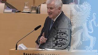 Rede von Ministerpräsident Seehofer vor dem Bayerischen Landtag - Bayern