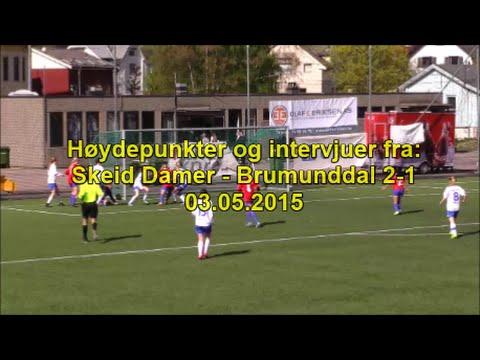 Høydepunkter og intervjuer fra Skeid Damer - Brumunddal 03.05.2015