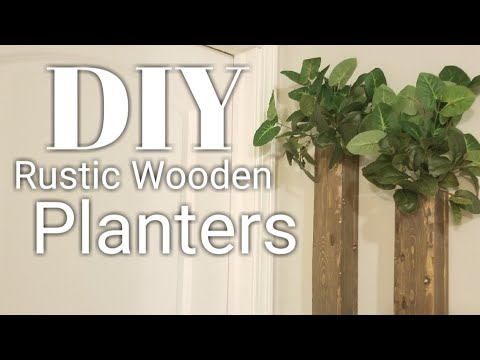 DIY Rustic, wooden wall planter boxes