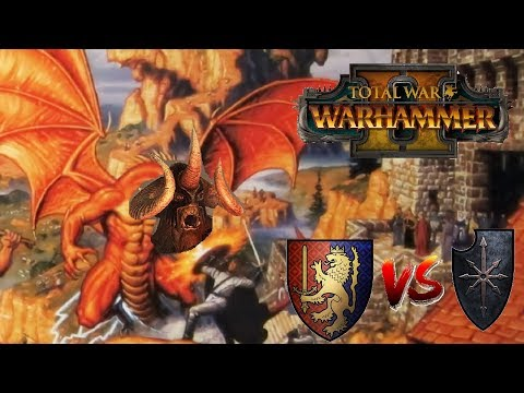 Bretonnia vs Chaos | DOWN WITH THE MOUNTAIN GOD - Total War Warhammer 2