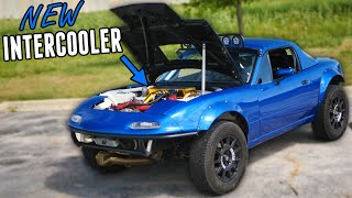 homepage tile video photo for AWD Miata Gets a NEW INTERCOOLER SETUP & QUICKER STEERING!