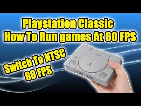 PlayStation Classic Run Games At 60FPS Hidden Menu Settings! - How To