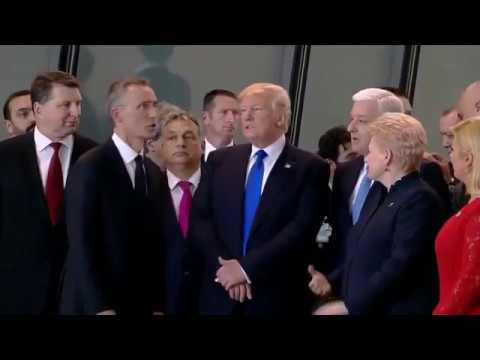 Donald Trump's Shove Of NATO Member Sets Internet On Fire
