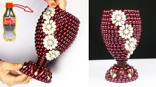 How to Make A Flower Vase At Home | Plastic Bottle Flower Vase | Home decor ideas