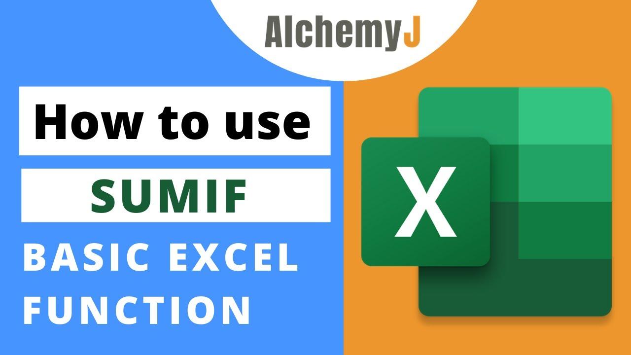 Basic Excel Function - How to use SUMIF Function in Excel