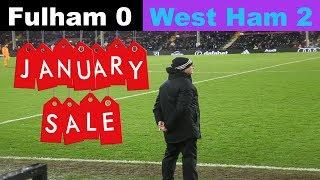 Fulham 0 West Ham United 2   Rock Bottom!   Fulham Football Club