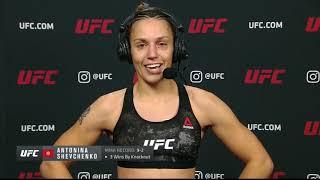 UFC 255: Антонина Шевченко - Слова после боя смотреть онлайн в хорошем качестве - VIDEOOO