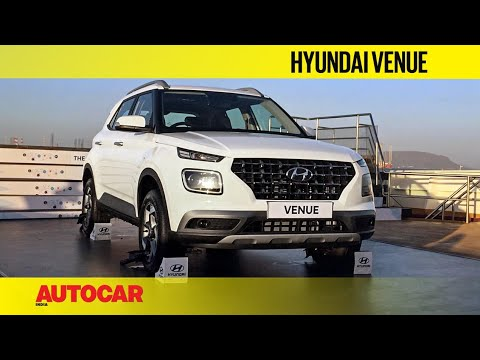 Hyundai Venue First Look And Walkaround Autocar India Youtube