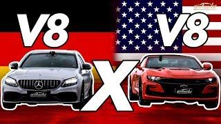 Camaro X C63 S Amg: Qual V8tão Leva A Melhor No Retão? Arrancadão #8 | Acelerados