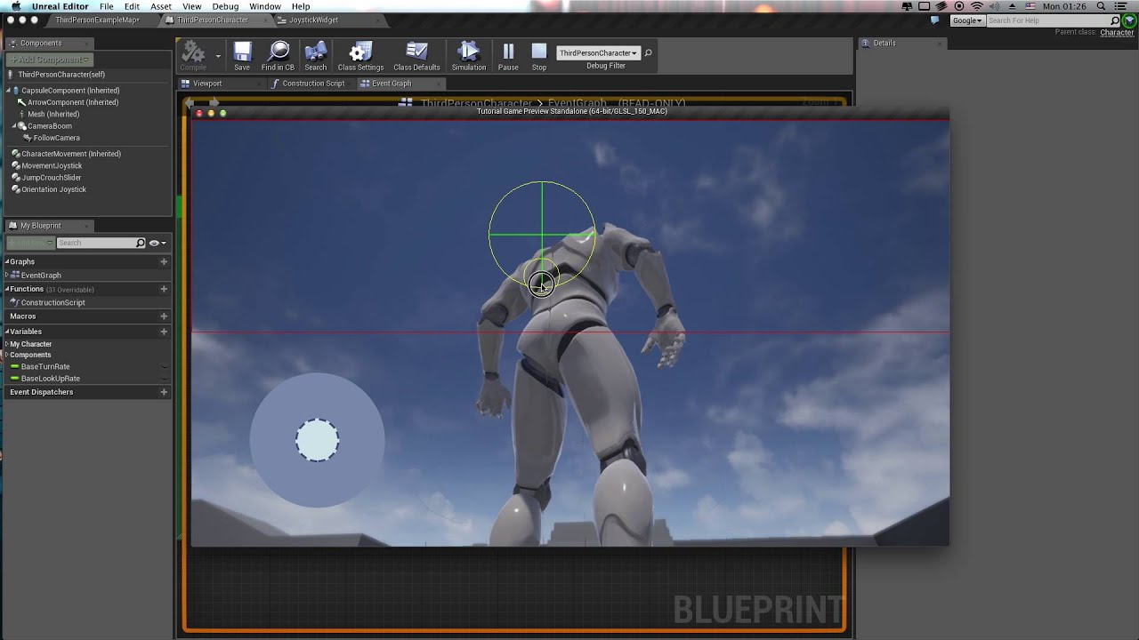 Old version ue4 custom touch controls tutorial part ii animated old version ue4 custom touch controls tutorial part ii animated joystick widgets from scratch malvernweather Choice Image