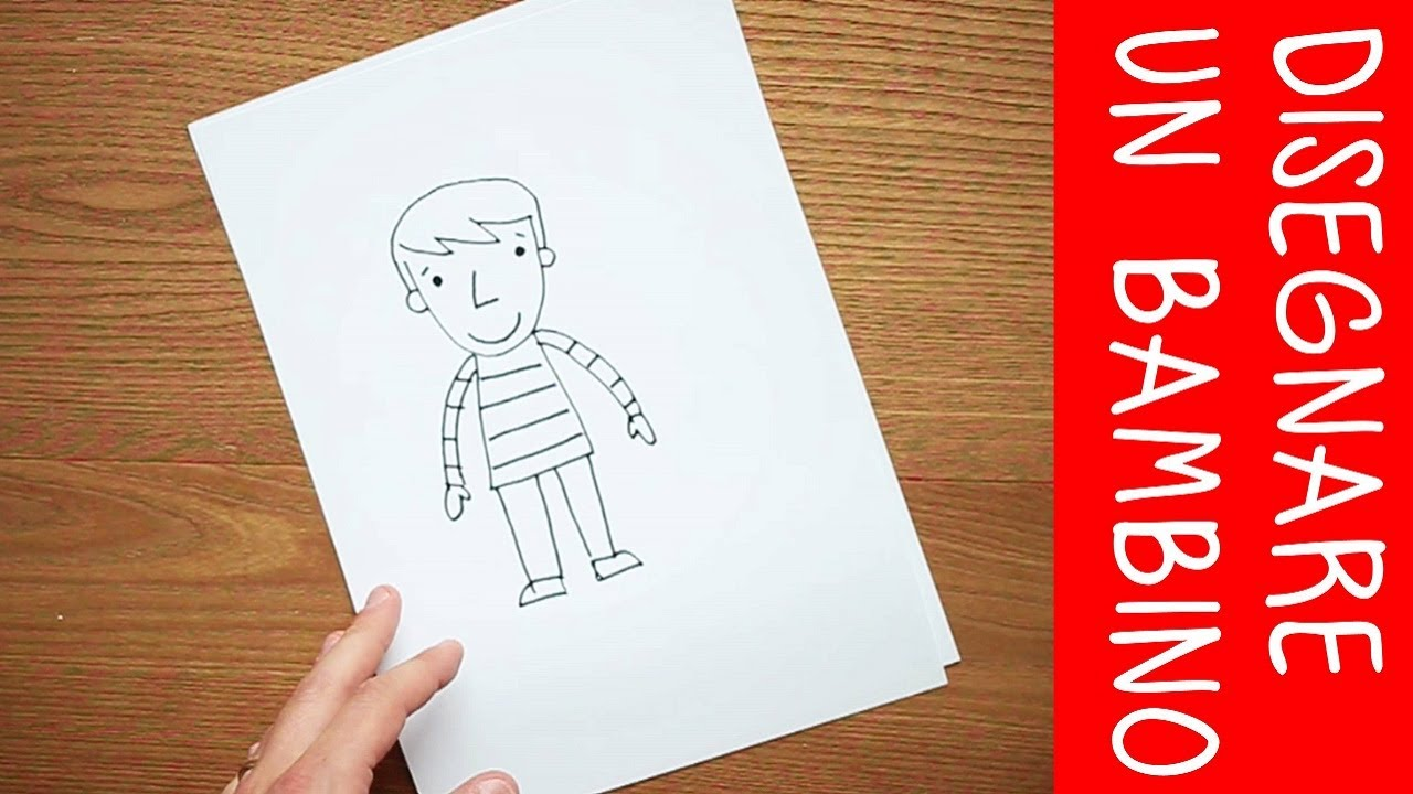 Top Come disegnare un bambino: video tutorial di disegno - YouTube YJ75