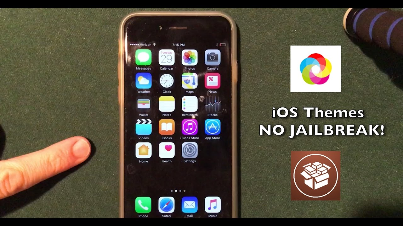 Install Jailbreak Apps Without Jailbreaking iOS 10 2: Themes!