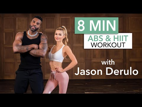8 MIN AB & HIIT WORKOUT with Jason Derulo / No Equipment   Pamela Reif