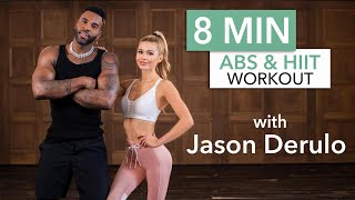 8 MIN AB & HIIT WORKOUT with Jason Derulo / No Equipment | Pamela Reif