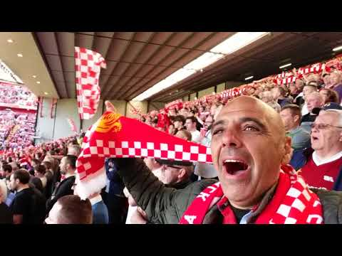 LAWRENCE MAST YOU NEVER WALK ALONE ANFIELD LIVERPOOL STADIUM TODAY