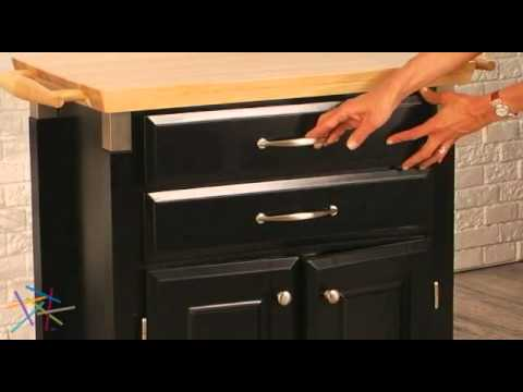 Home Styles Dolly Madison Prep U0026 Serve Kitchen Cart Black   Product Review  Video