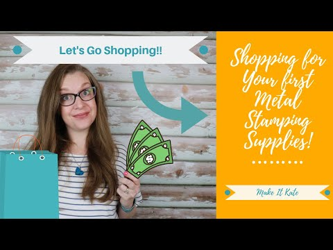 Shopping For Metal Stamping Supplies (Beginner: Make Your First Project)