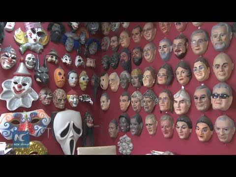 Masks, the staple of Rio's Carnival