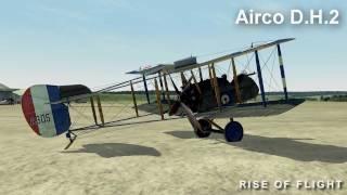 "Airco D.H.2 demo flight in ""Rise Of Flight"""