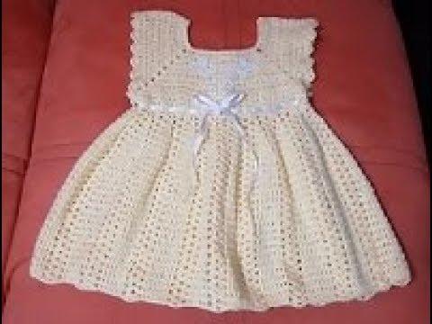 Vestido A Crochet Para Bebé De 3 Meses