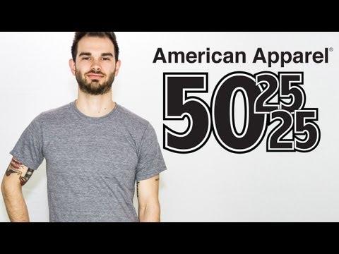 Custom American Apparel TriBlend 50/25/25 T Shirt On A Guy Model (Style TR401)