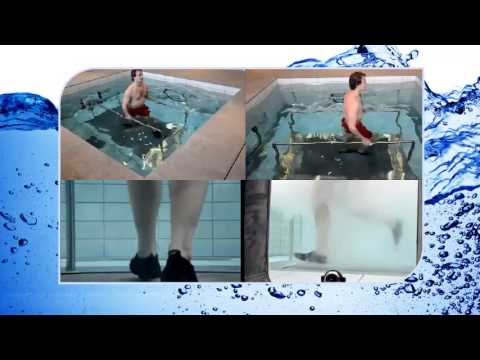 Motorised Underwater Treadmills In Moving Swimming Pool Floors Plus Aqua Gym Youtube