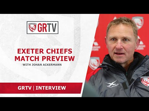 Ackermann looking for Gloucester Rugby to bounce back at home at Exeter