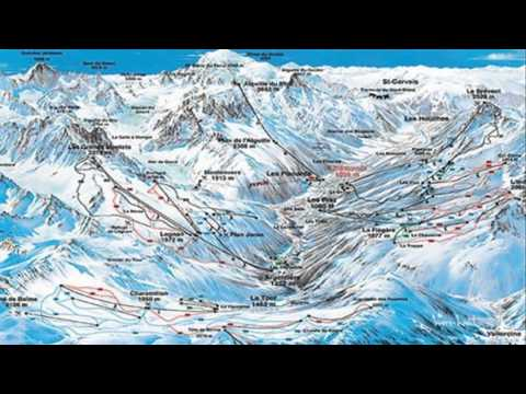 Chamonix Mont-blanc France Ski Map
