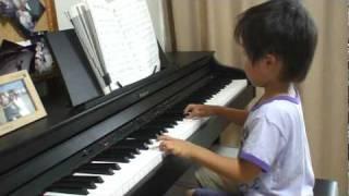 怜来5歳ピアノ演奏 となりのトトロ