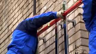 Newton - монтаж керамогранита(Монтаж навесного вентилируемого фасада на подсистеме Newton (ООО