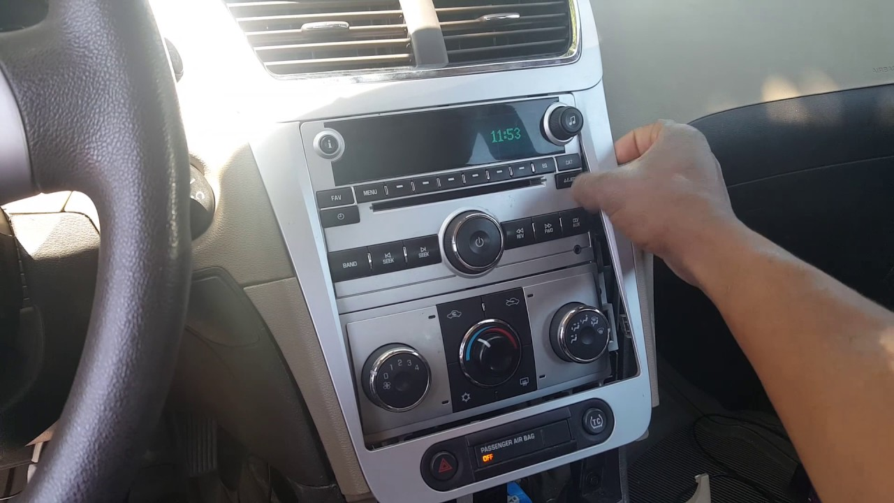 2008 2012 Chevrolet Malibu How To Remove Radio Easy Diy Hd