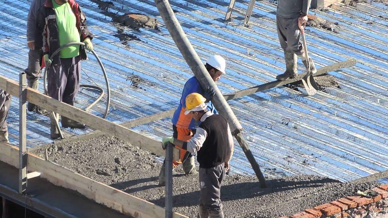 Construcci n llenando una losa de azotea hormig n 2014 - Losas de hormigon para jardines ...