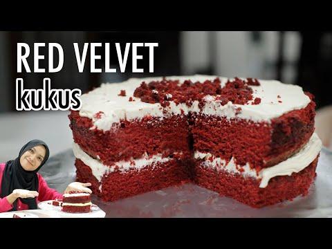 kek-red-velvet-versi-kukus.-#redvelvet-#kekredvelvet-#redvelvetkukus-#carabuatkek-#carabuatkekkukus