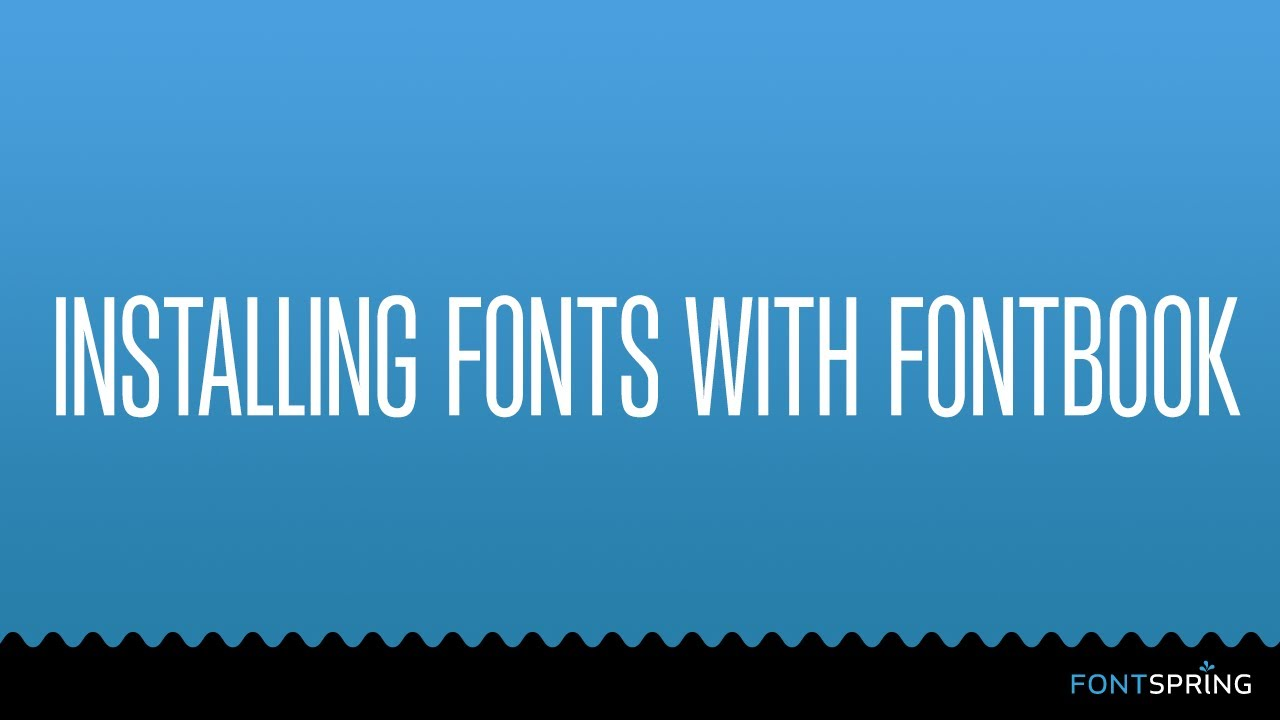 How do I install fonts on my Mac?