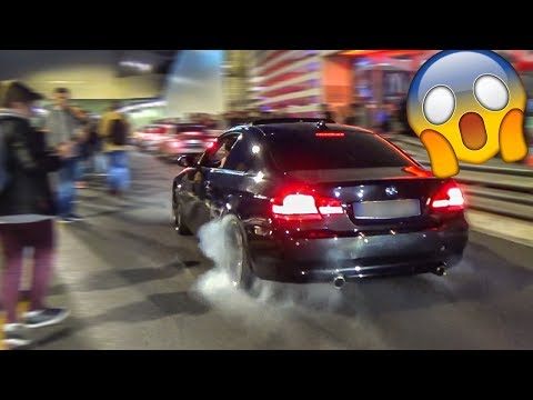 BMW 335D CAUSES CHAOS IN MONACO WHILE DOING A BURNOUT!