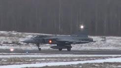 4K  Saab Gripen E Arriving Tampere-Pirkkala   HX Challenge 2020