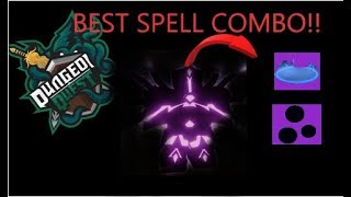 * BEST SPELL COMBO* GHASTLY HARBOR [Dungeon Quest] (Roblox)