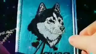 Обложка для ветеринарного паспорта. Хаски