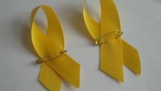 How to make a simple yellow lapel ribbon in two minutes! Mp3