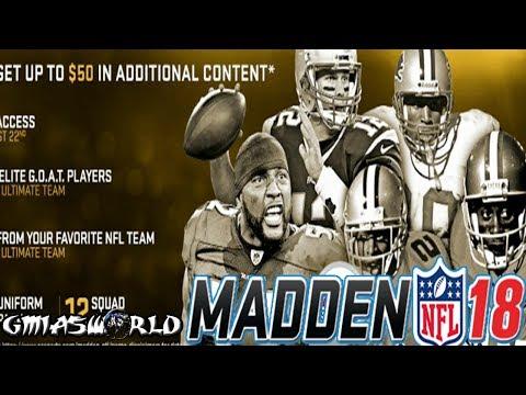 MADDEN NFL 18 GOAT EDITION DETAILS &...