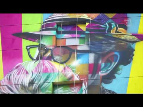 Grafite de Kobra colore a Faria Lima