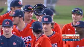 Auburn Baseball vs Florida Game 2 Highlights