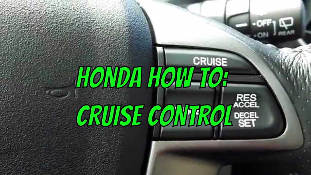 2013 Honda Pilot - Cruise Control Operation - YouTube
