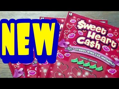 New $5 Sweet heart cash. Pa lottery scratch tickets.
