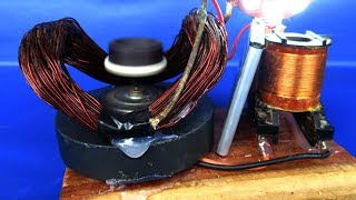 Homemade free energy magnet Using DC motor device with wire copper - DIY experiment 2018