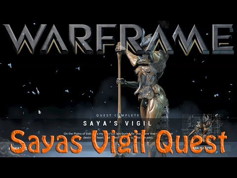 Warframe - Saya's Vigil Quest (How to get gara & warrior operator)