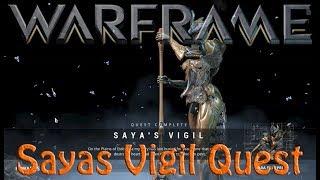 Warframe - Saya's Vigil Quest (How to get gara & warrior operator)