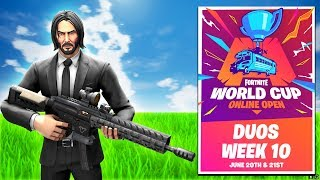 FORTNITE WORLD CUP WEEK 10 LIVE! I'm Going to NEW YORK! (Maybe)