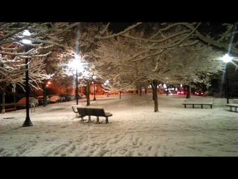 Friendship Park Pittsburgh First snowfall December 2016 peaceful