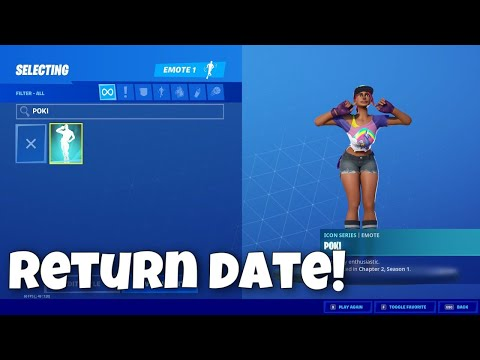 NEW Poki Emote RETURN RELEASE DATE! (Poki coming back!)